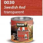 SAICOS 0030 Lazura Olejna do Ochrony Drewna CZERWIEŃ SZWEDZKA